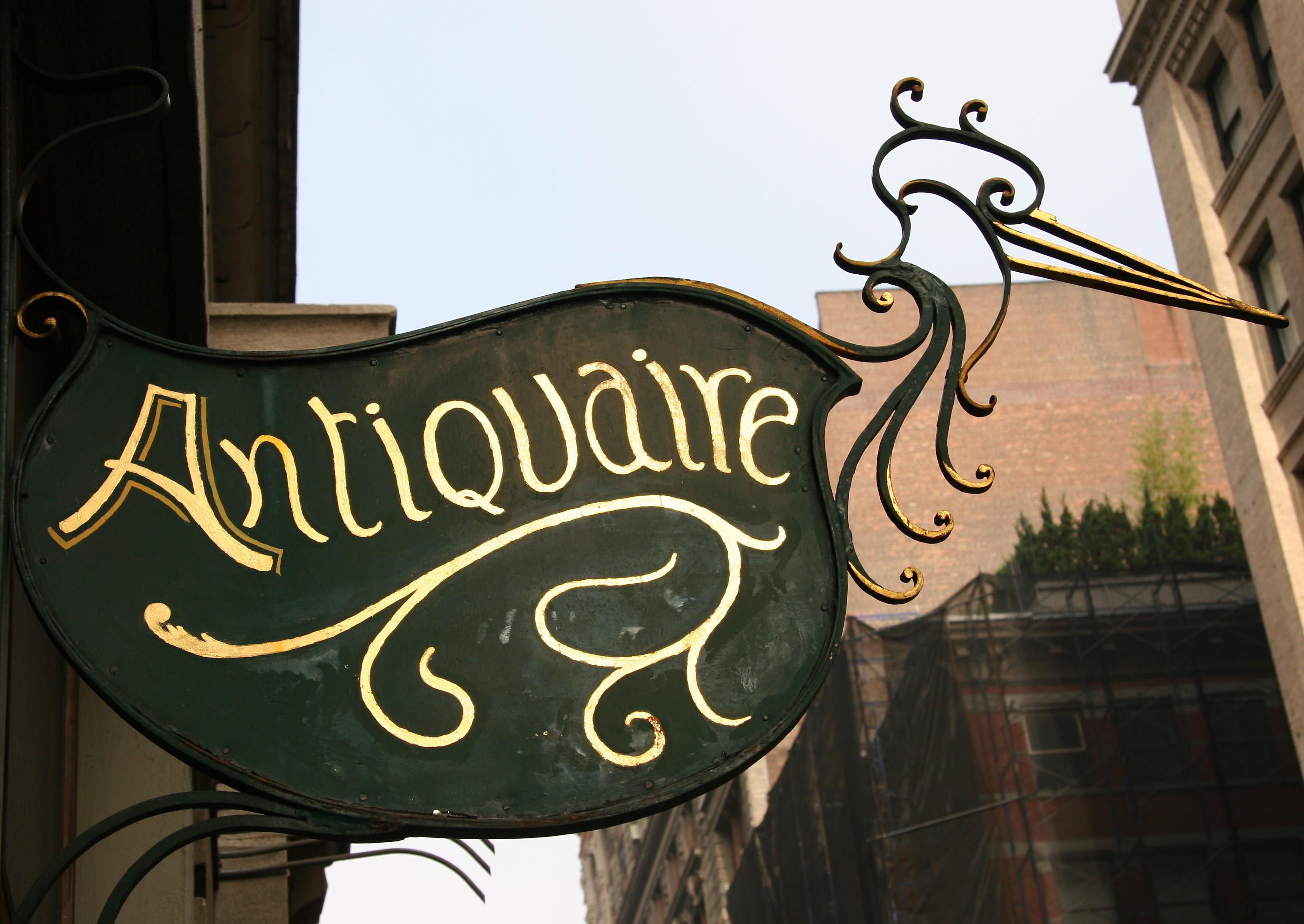 Antiquaire Guild Sign