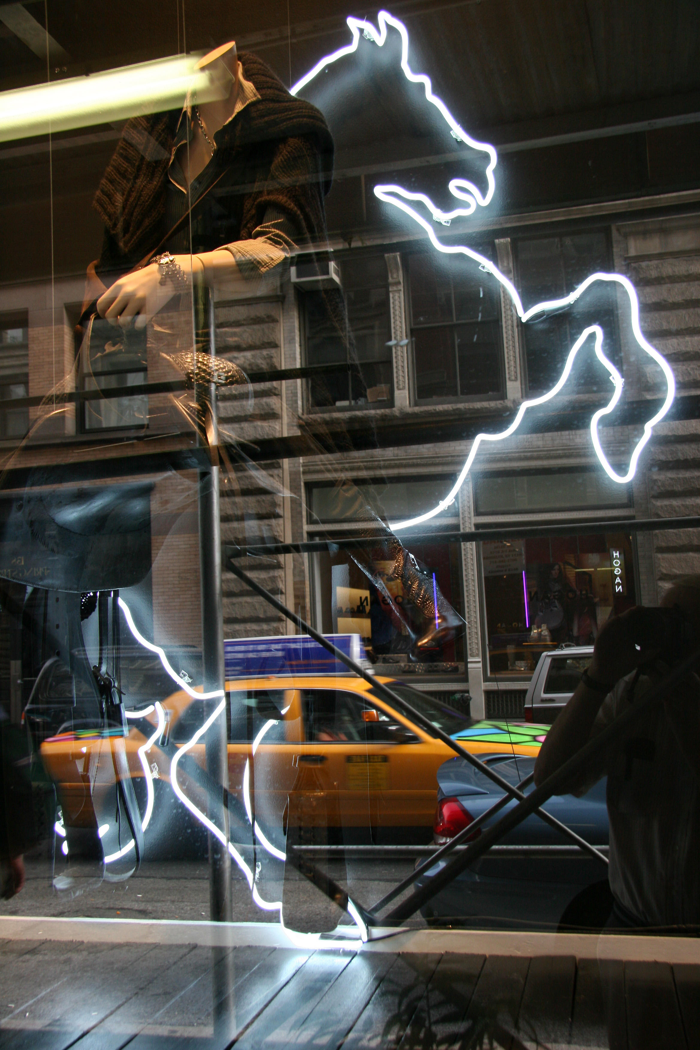 Neon Steed - Clothing Store Window