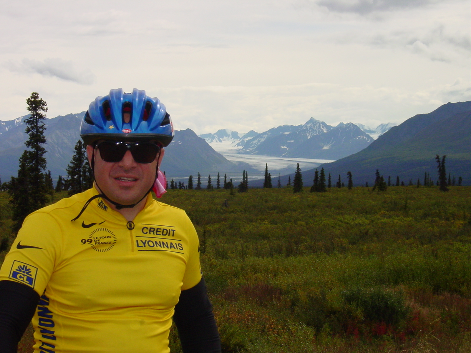 Mike the Bike at the glaciers