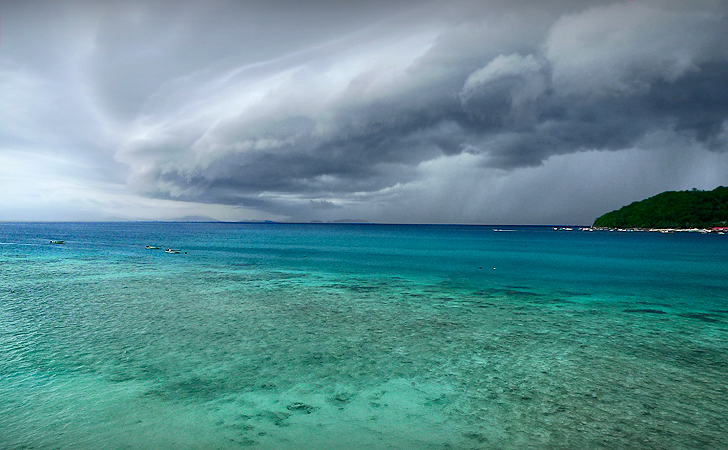 Storm in Perhentian, Malaysia