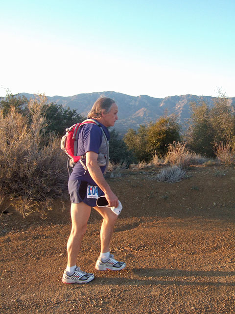 Rod Heading East on Nordhoff Ridge