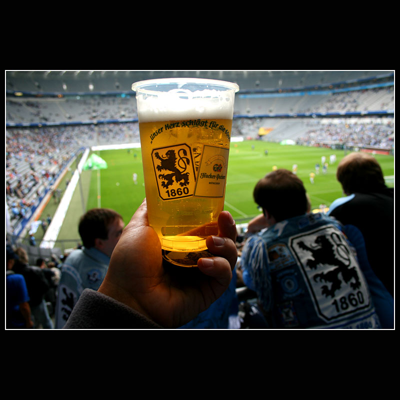 ... The wonderful beer before the start of the game ...