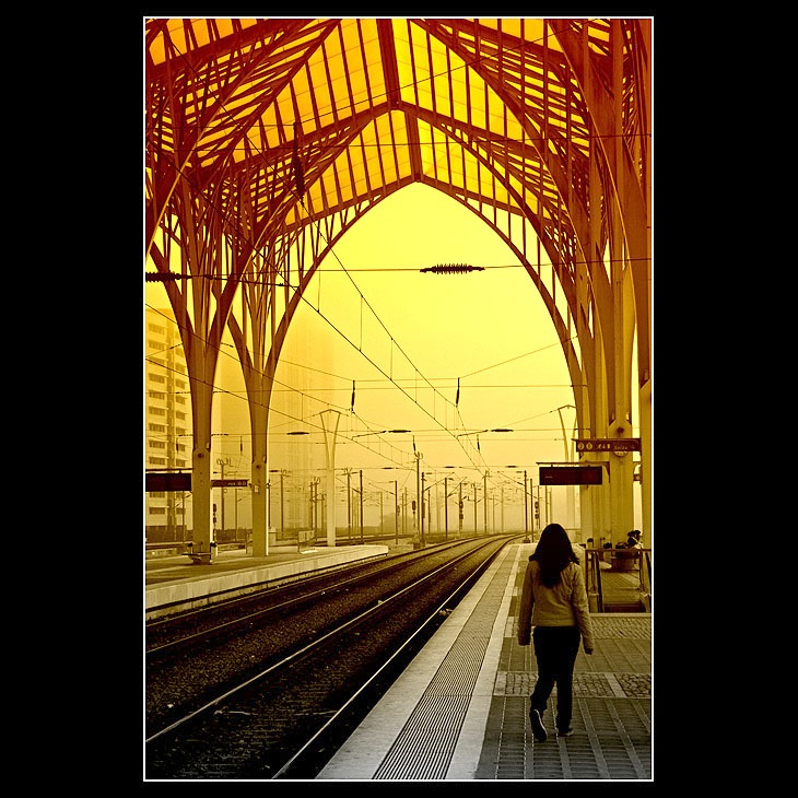 ... in the train station ...