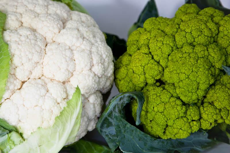 12. White and Green Cauliflowers