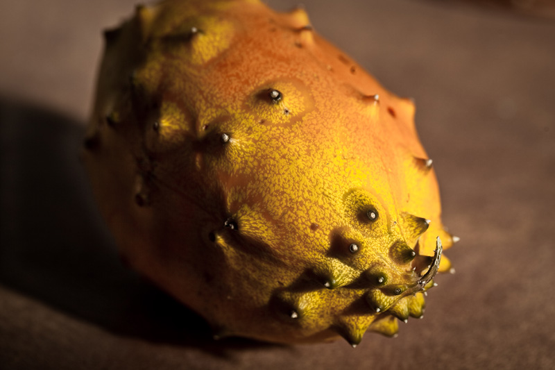 The Kiwano is a prickly fruit.