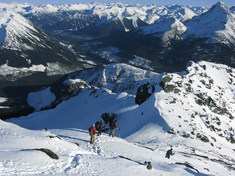 Descending down form Cayoosh Mountain