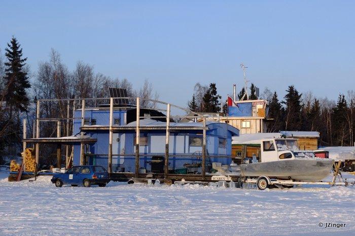 Great Slave Lake Boat Houses,  Yellowknife