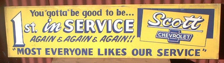 OK Oklahoma City Scott Chevrolet Sign 14.75in x 60 in ca 1958 $150 a.jpg