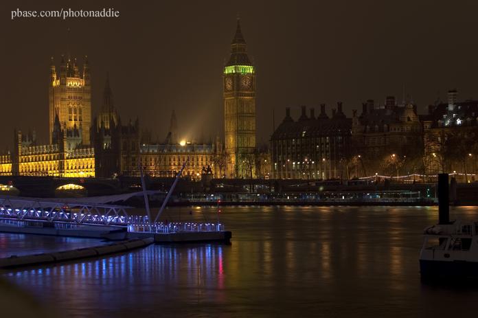 Night view  of Big Ben