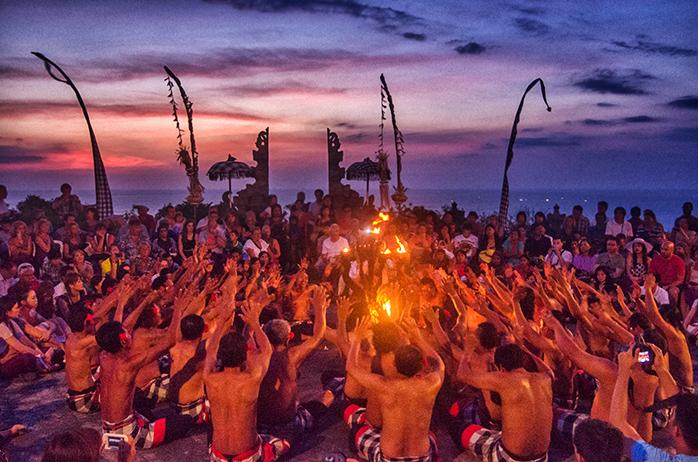 Kecak Dance at Sunset at Uluwatu