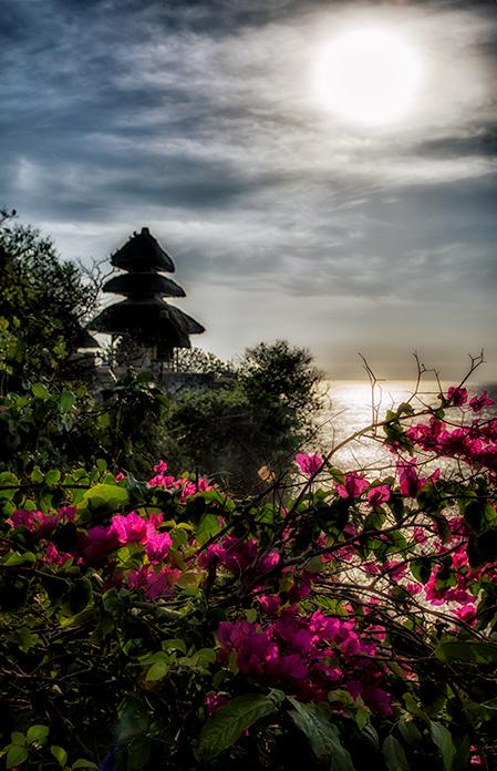 Sun over Uluwatu Temple & Cliffs