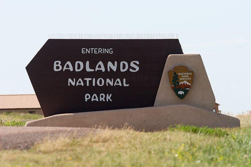 Badlands Sign