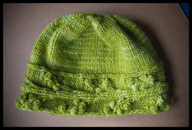 0021. Cayuga Hat - lettuce colorway