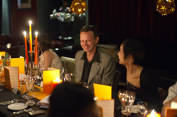 Tom Dixon (in an extremely rare moment - smiling)