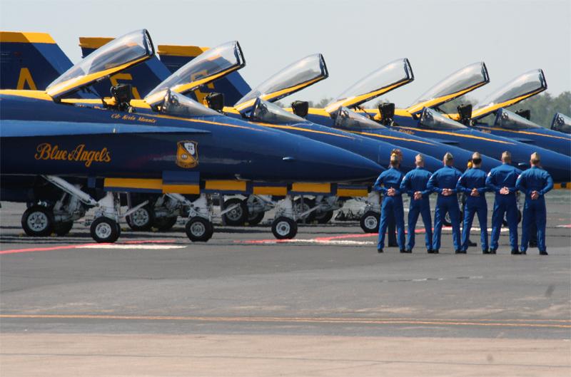 Blue Angel Pilots At Parade Rest.jpg