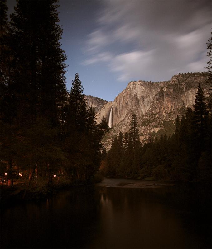 Yosemite Falls from the Merced River Bridge with Housekeeping Camp.jpg