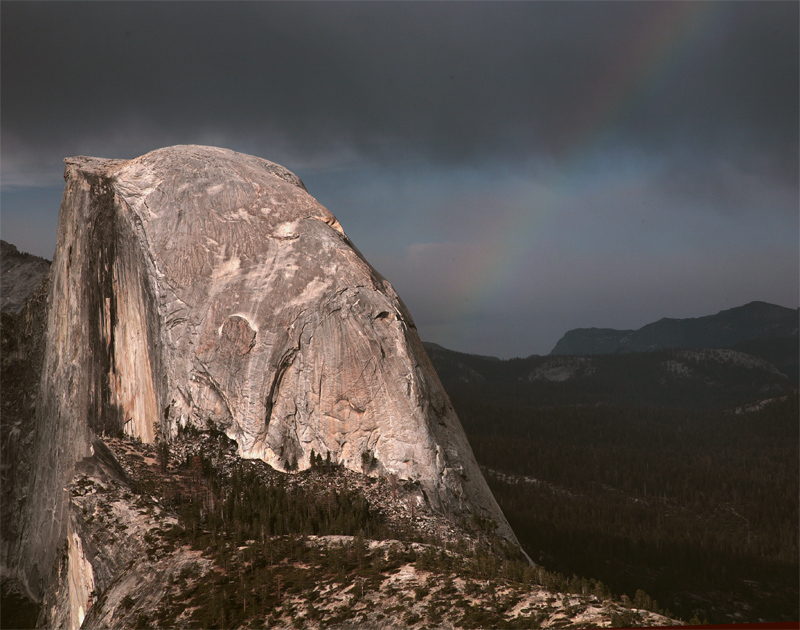 Half Dome from Glacier Point with Rainbow Closeup.jpg