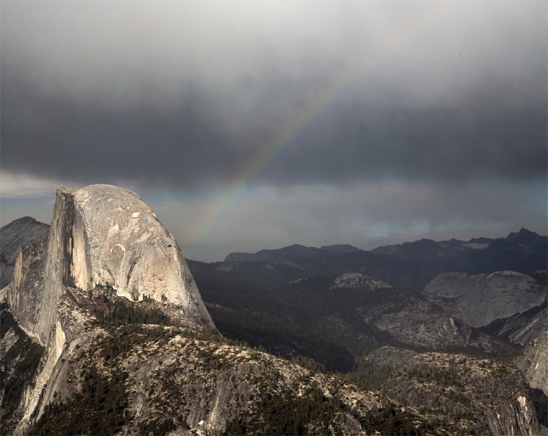 Half Dome from Glacier Point with Rainbow 2.jpg