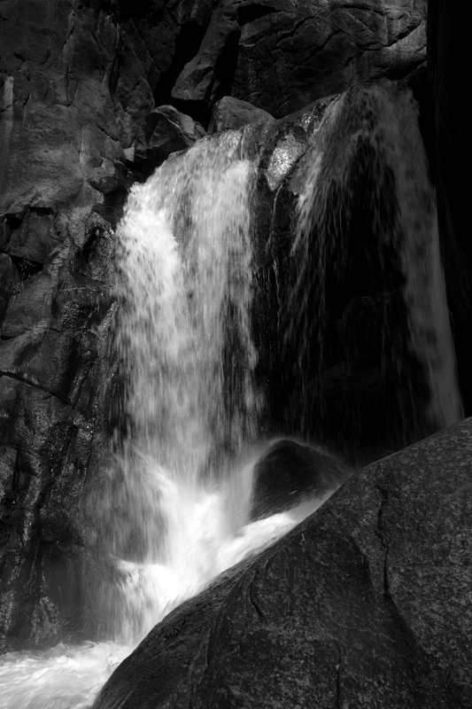 Lower Yosemite Falls Black and White.jpg