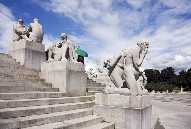 Vigeland portrayed people in all stages of life.