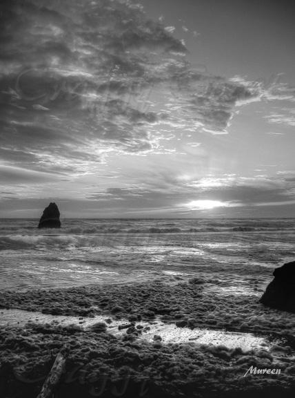Sunset Sea Foam