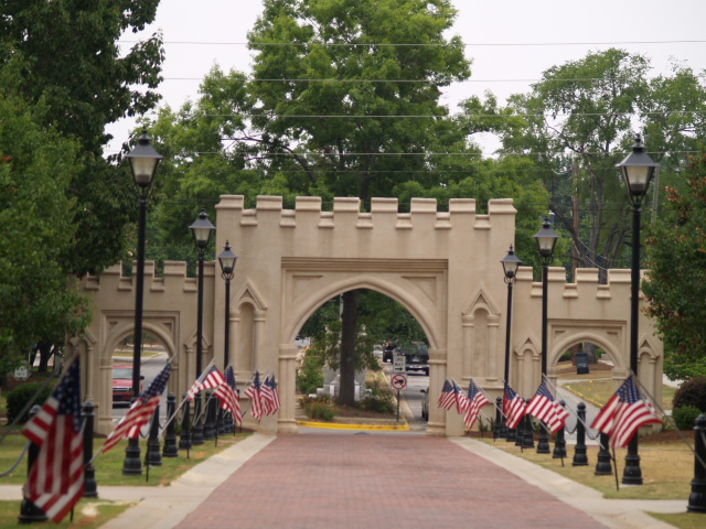 Leaving View of Military College