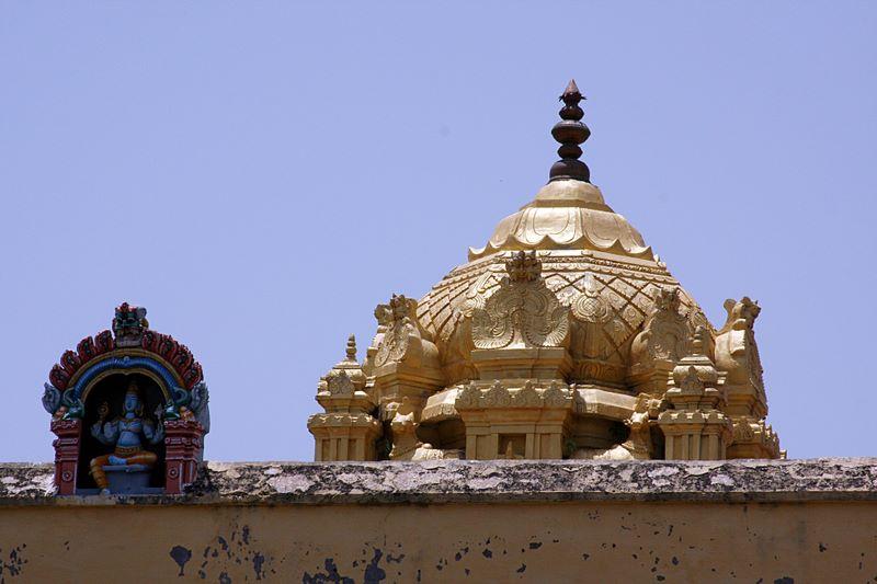 Ekambareswara Temple - Golden gopuram, Kanchipuram, India