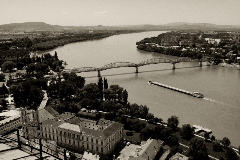 View of Christian Museum from Esztergom Basilica, Esztergom, Hungary