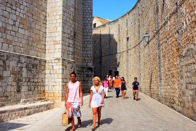 Svetog Dominika, Entrance to the Walled city through Ploce Gate, Dubrovnik