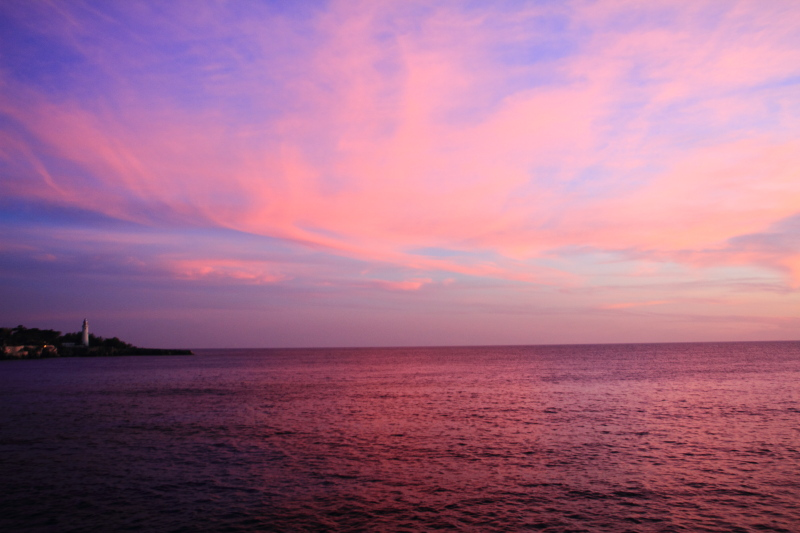 After sunset, Negril, Jamaica