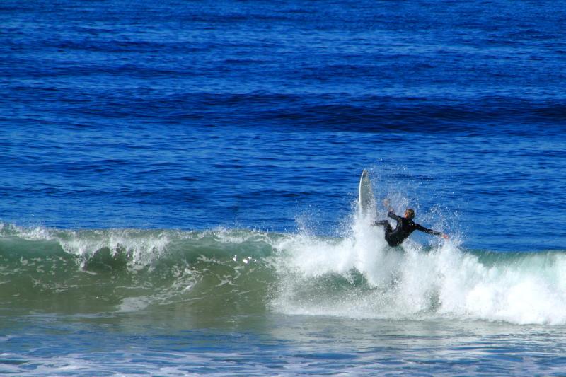 Conquer, surfing in La Jolla, California