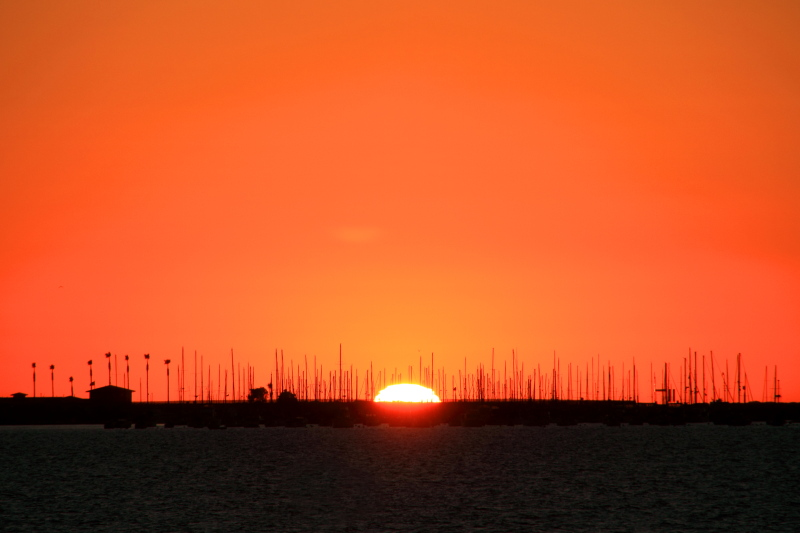 Sunset in San Diego Bay