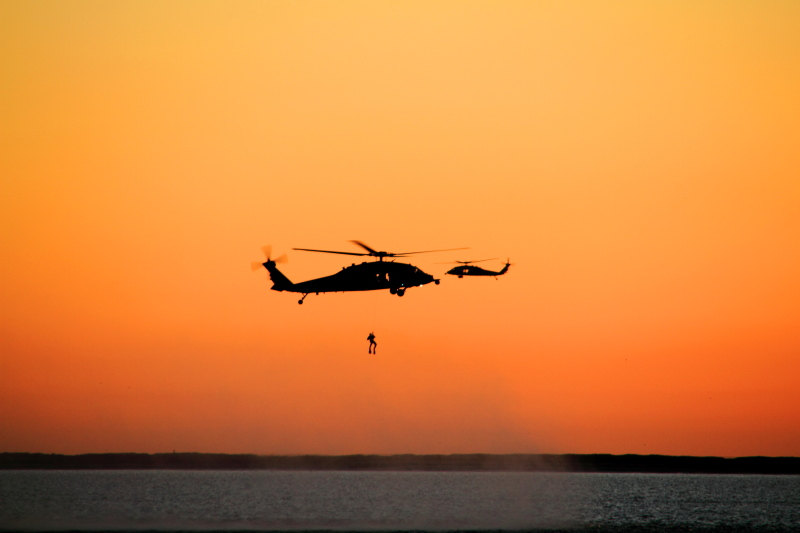 Sunset, Coast Guard Rescue Practice, San Diego Bay