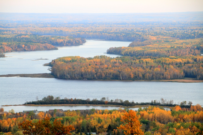 Fall Colors, Pokegama Bay, Saint Louis River, view from Thompson Hill, Duluth, MN
