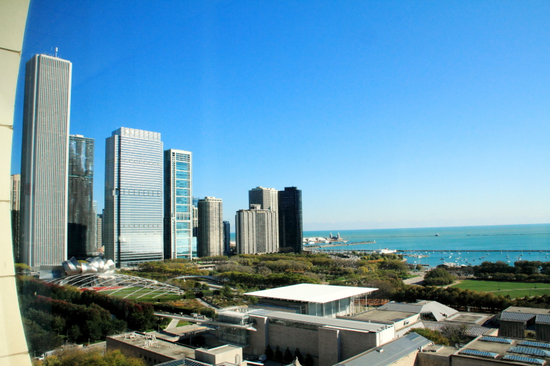 Downtown Chicago, Lake Michigan, view from Santa Fe Building - Open House Chicago 2011
