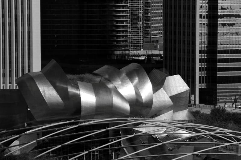 Pritzker Pavilion, Chicago, Black and White