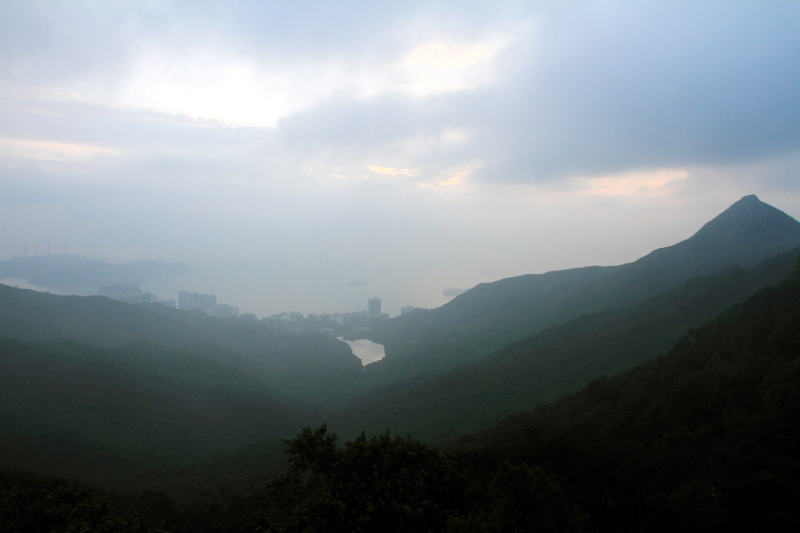 View from the Peak, Hong Kong mountainside