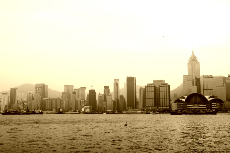 Hong Kong in Sepia