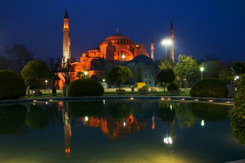 The historic glow at dusk, Hagia Sophia, Istanbul