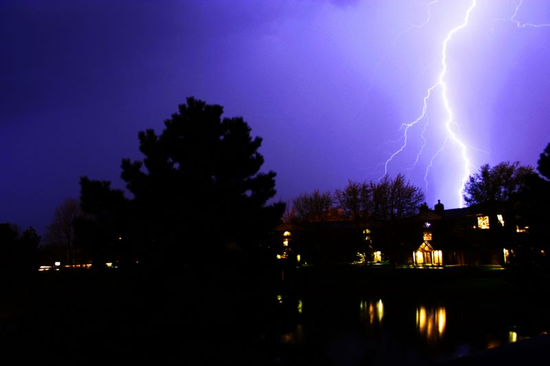 Lightning attack, Palatine, IL