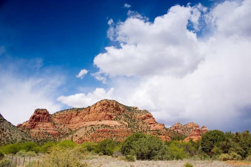 First view of Sedona,  Arizona