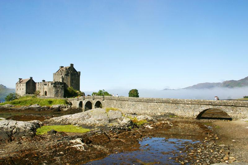 Eileen Donan Castle - Dornie with the moat, Scotland