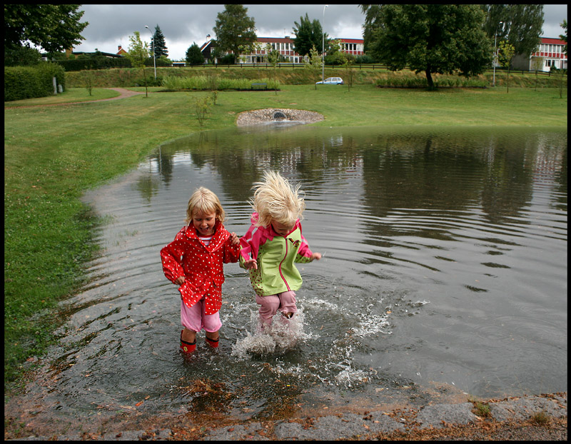 Are your boots also leaking???  Växjö Sweden after heavy rain