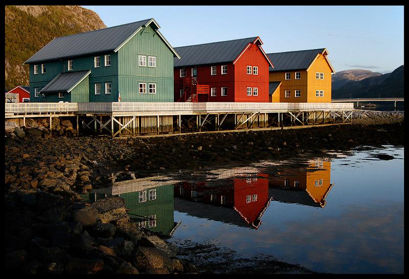 Harbour houses in Lauvsnes