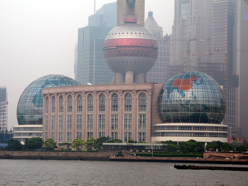 Base of the 1535 Foot Tall Oriental Pearl Tower