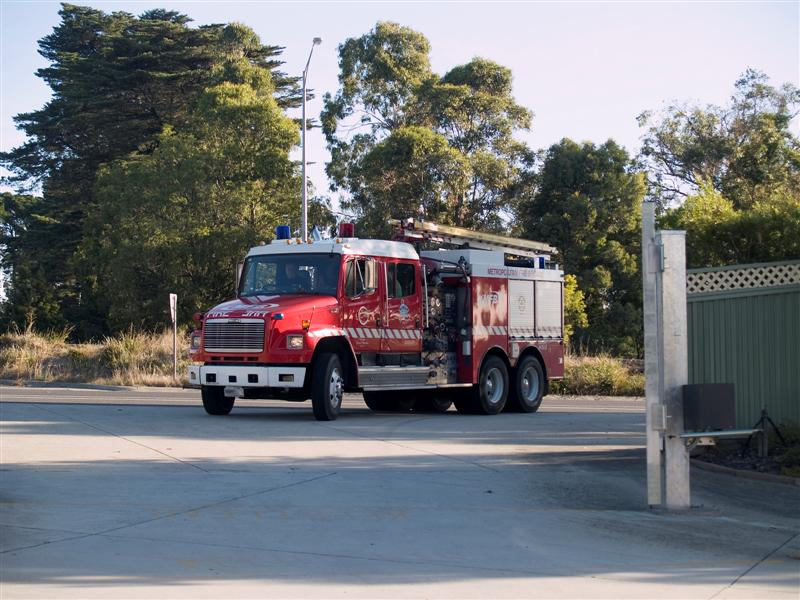 Fireman Rob returning after a safe trip