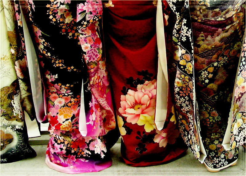 japanese kimonos backside