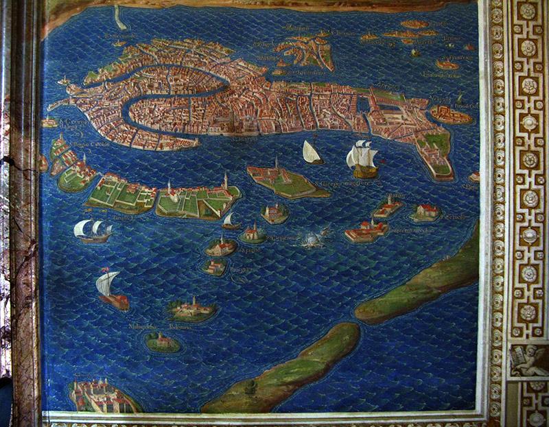 Galleria delle Carte Geografiche (Map Room), map of Venice and Lagoon<br/> .. R9521