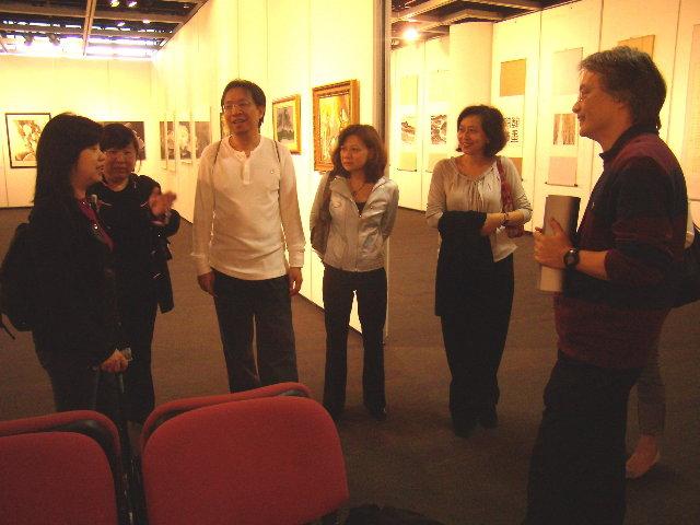 With SPCC73 visitors Stella, Winnie, David, Louisa, and Elaine