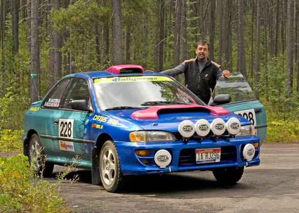 zP1010630 Dick Rockrohr and rally car visit SanSuzEd.jpg